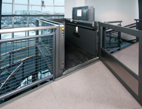 Glass Vertical Wheelchair Lift