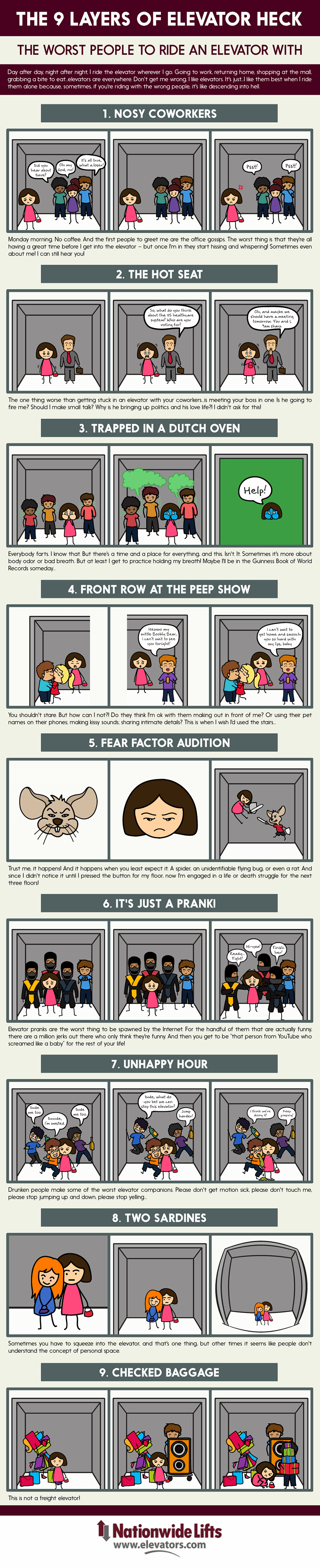 9-worst-people-for-introverts-to-be-with-in-elevators-#infographic