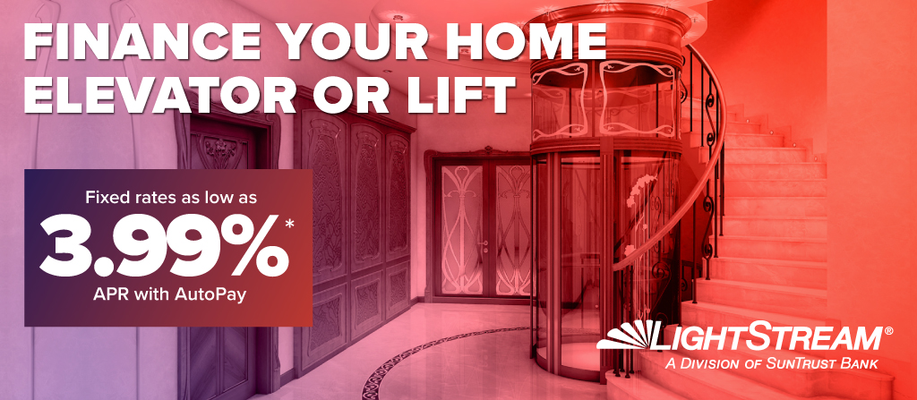 Finance your home elevator or lift