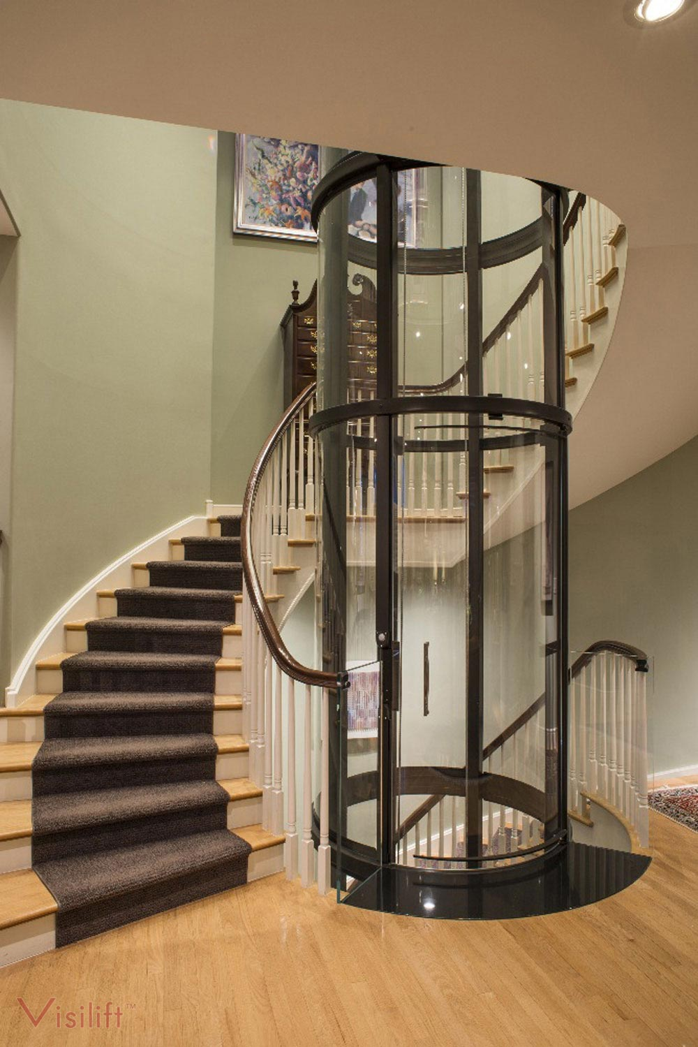 Round glass elevator contact us for a free quote for Elevators home